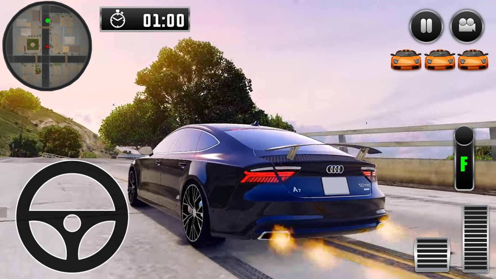 City driving audi car simulator android apps on google play for Car paint simulator