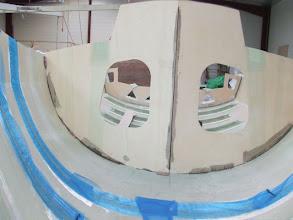 Photo: cloison de mât - posée stratée