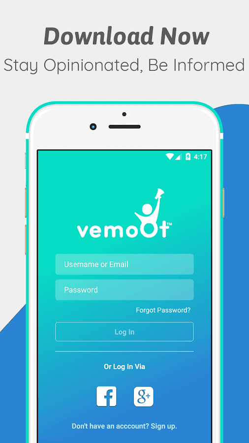 Vemoot-Your Social Polling App- screenshot