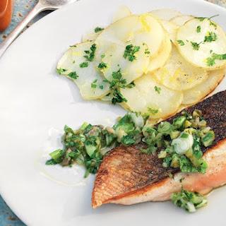 Crispy-skinned Salmon With Fresh Herb Sauce
