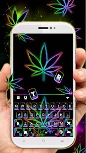 Glow Rasta Weed Keyboard Theme - náhled