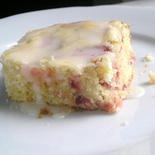 Strawberry Lemon Cake Bars with Lemon Glaze Recipe