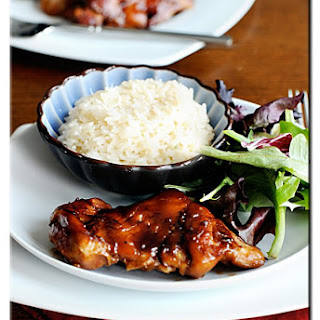 Oven Baked Teriyaki Chicken Thighs.