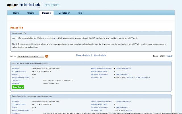 Mechanical Turk Requester On-Demand Iframes