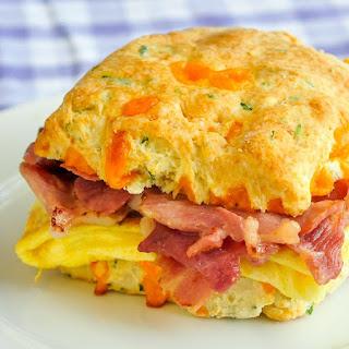 Ham Cheddar Biscuit Breakfast Sandwiches Recipe