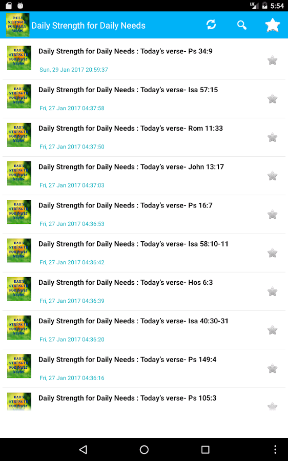 Daily Strength for Daily Needs- screenshot