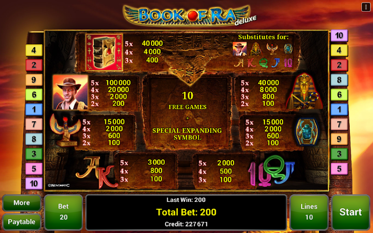 android Book of Ra™ Deluxe Slot Screenshot 3