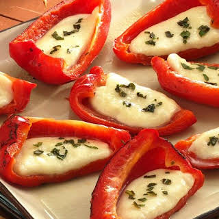 Grilled Cheese-Stuffed Roasted Red Peppers.