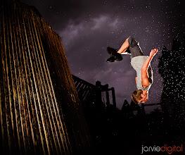 Photo: A run jump flip off the wall