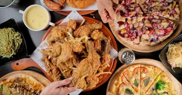 Double Cheese手工窯烤Pizza│20多種披薩炸雞義麵吃到飽  這種價位連小鳥胃都划算