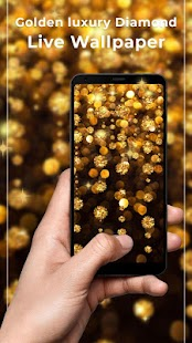Golden Luxury Diamond Free live wallpaper - náhled