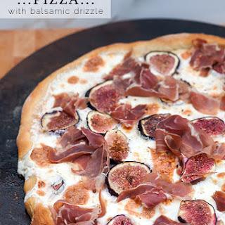 Fig and Prosciutto Pizza with Balsamic Drizzle Recipe