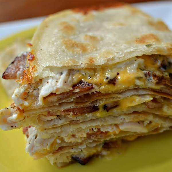 Chicken Quesadilla With Ranch And Bacon Recipe
