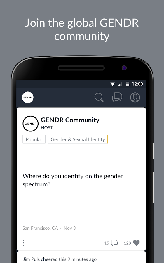 GENDR Community- screenshot