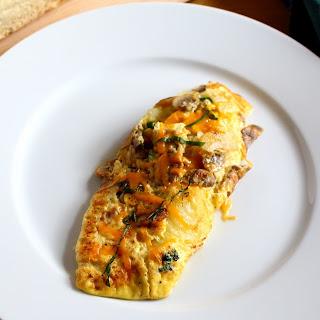 Cheese Onion Mushroom Omelette Recipes