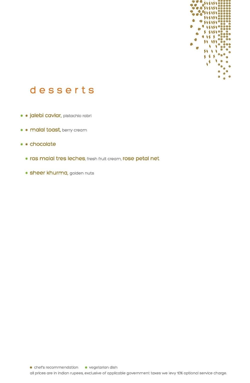 Masala Library menu 1