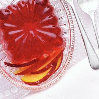 Berry Gelatin Dessert with Nectarines.