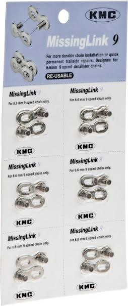 KMC 9 Speed Re-Usable Bicycle Cycling 6.6mm Chain Missing Master Link Gold