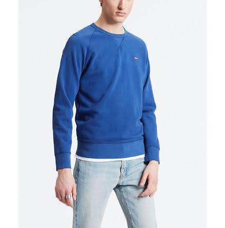 Levi's chest logo crewneck sweatshirt sodalite blue