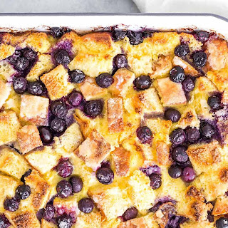 Baked Blueberry French Toast Casserole.