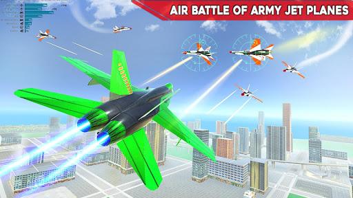 Army Bus Robot Transform Wars u2013 Air jet robot game screenshots 6