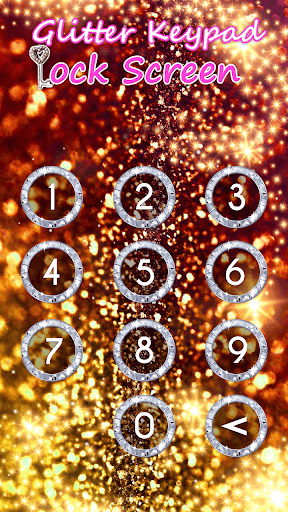 Glitter Keypad Lock Screen 5.0 screenshots 4