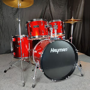Hayman HM-350-MR - Komplett Nybörjartrumset - Metallic Red