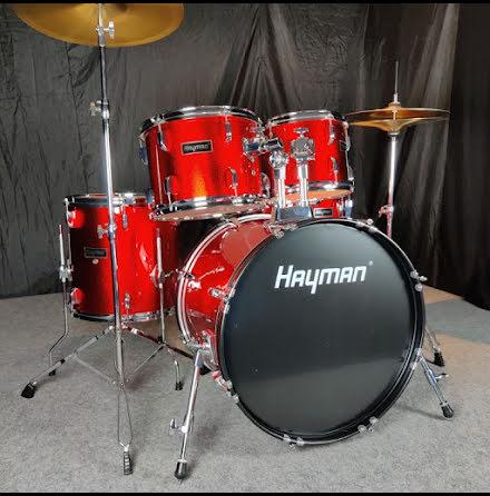 Hayman HM-350-MR - Komplett Nybörjartrumset - Metallic Red