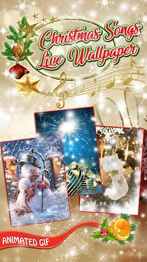 Christmas Songs Live Wallpaper with Music ud83cudfb6 2.8 screenshots 1