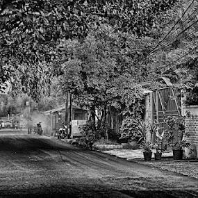 Smoke at the end by Tigor Lubis - Black & White Street & Candid