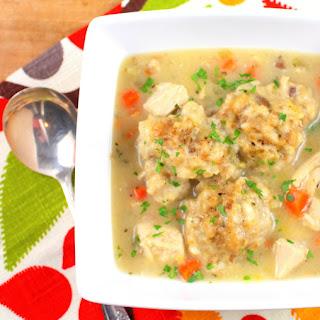 Turkey and Dumpling Soup.