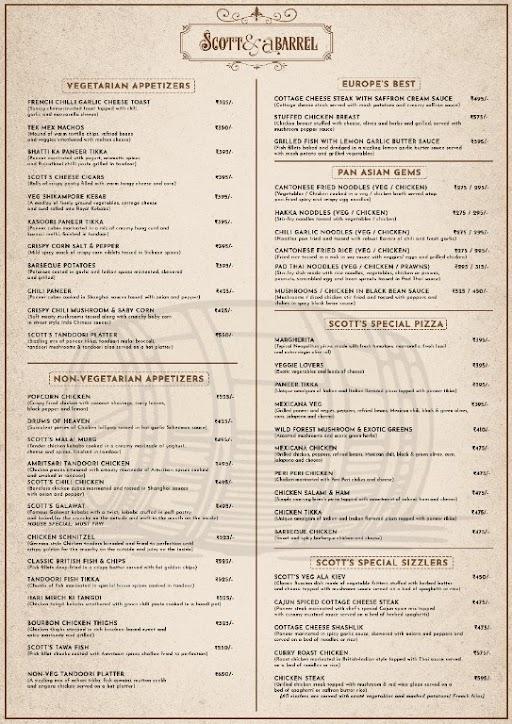 Scott And A Barrel menu 2