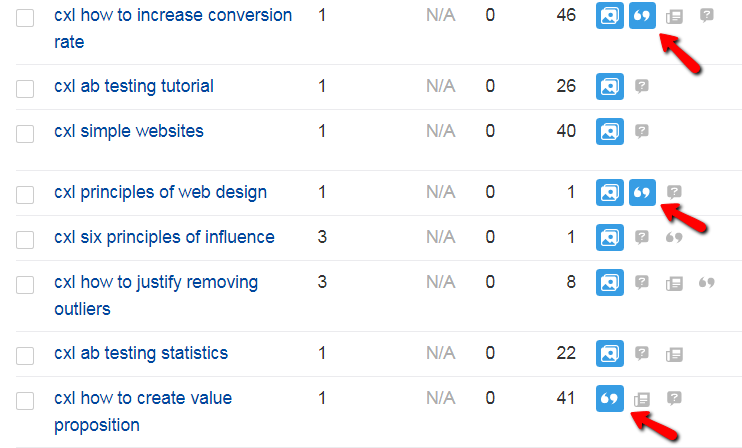 tracking serp features for implicit site searches.