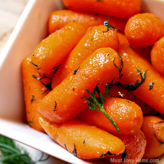 Honey Dill Glazed Carrots