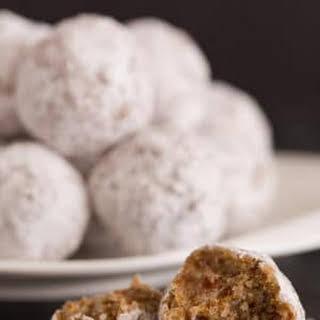 No-Bake Date & Pecan Snowball Cookies.