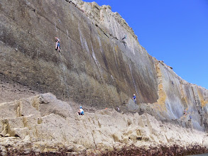 Photo: Loads of climbers dotted all along this stretch of coast today