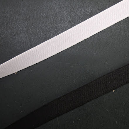 Resår 15mm - svart & vit