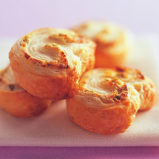 Cream Cheese and Olive Palmiers.