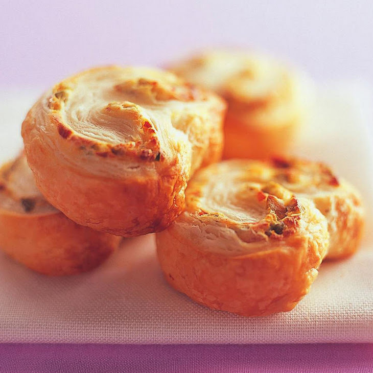 Cream Cheese and Olive Palmiers