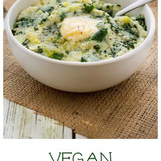 Vegan Cauliflower Colcannon.