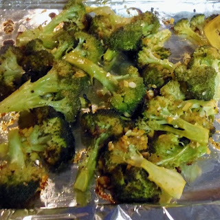Roasted Sriracha Broccoli.