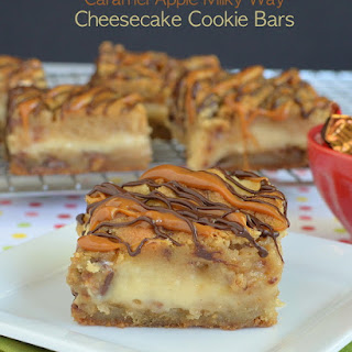 Caramel Apple Milky Way Cheesecake Bars and a Hop