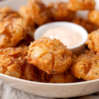 Bite-sized Blooming Onions.