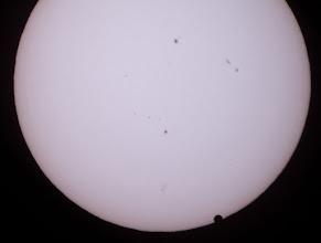Photo: транзит Венеры 06.06.2012, между точками 3 и 4
