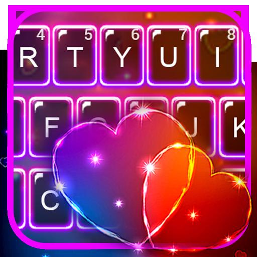 Sparkle Hearts Keyboard Theme