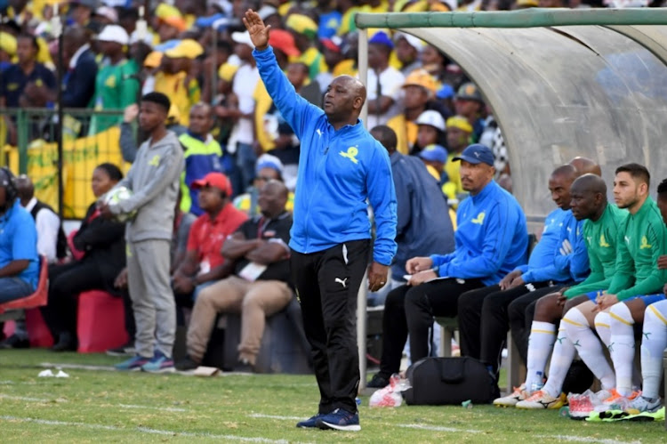 Pitso Mosimane (Coach of Mamelodi Sundowns) during the Absa Premiership match between Mamelodi Sundowns and Kaizer Chiefs at Loftus Versfeld Stadium on August 04, 2018 in Pretoria, South Africa.