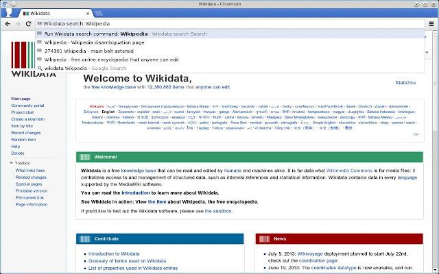 Wikidata search