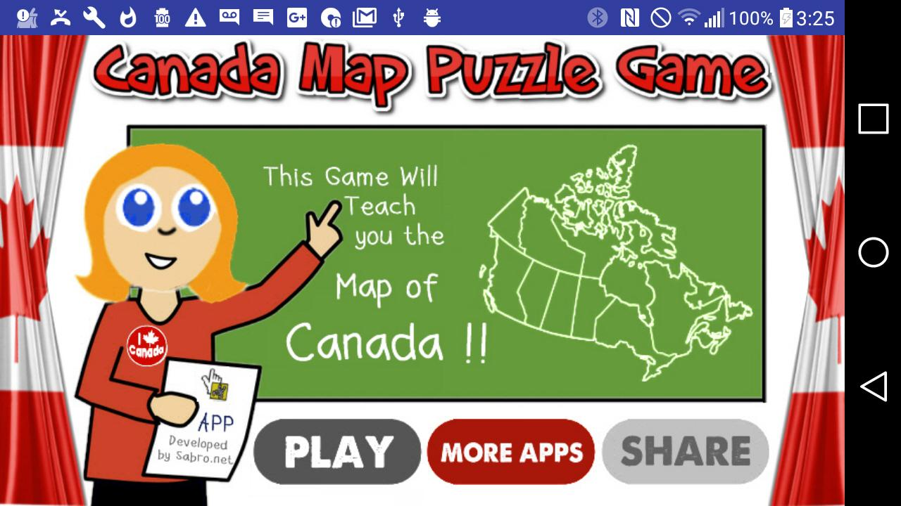 Canada Map Puzzle Game Free- screenshot