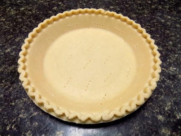 Bake your favorite recipe for flour pie crust.  I  like Gwydolyn Maddox...