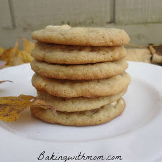 Soft And Chewy White Chocolate Chip Cookies.